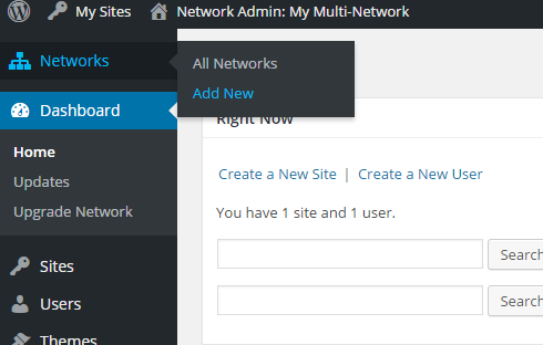 """The new """"Networks"""" tab in the super admin dashboard."""