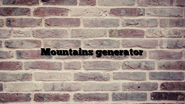 Mountains generator