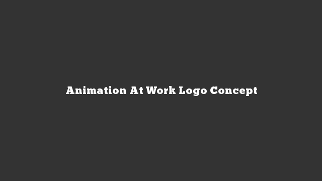 Animation At Work Logo Concept