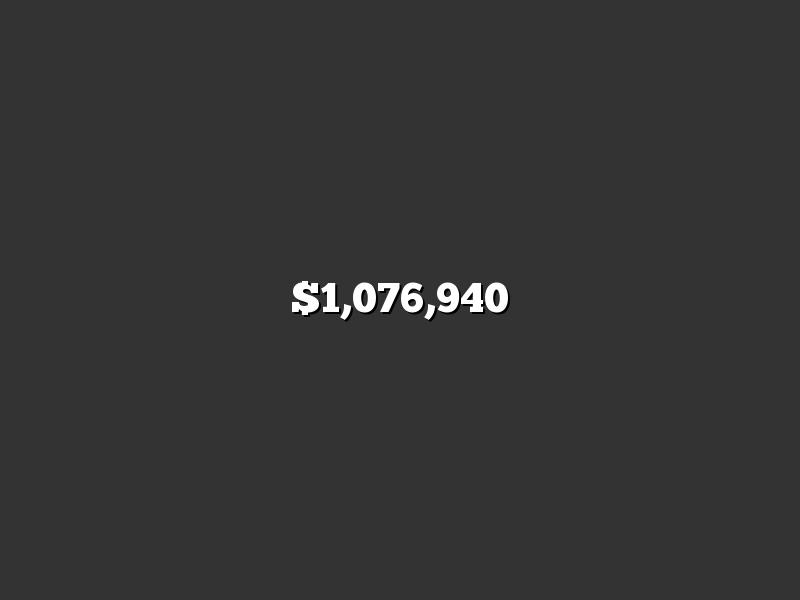 $1,076,940